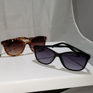 b33286ae5c Elle cat eye black sunglasses + bonus pair